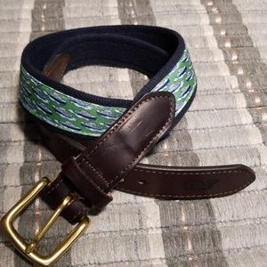 Vineyard Vines Canvas Club Belt